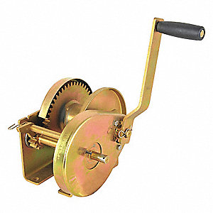 "7-1/4""H Pulling Hand Winch with 2000 lb. 1st Layer Load Capacity; Brake Included: No"