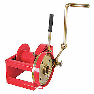 "19-1/2""H Pulling Hand Winch with 4000 lb. 1st Layer Load Capacity; Brake Included: No"