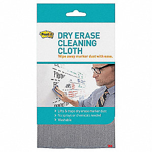 Dry Erase Cleaning Cloth,Woven,Gray