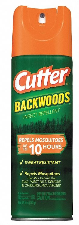 Insect Repellent,  Aerosol,  6 oz,  Indoor/Outdoor,  25.00% DEET Concentration,  DEET