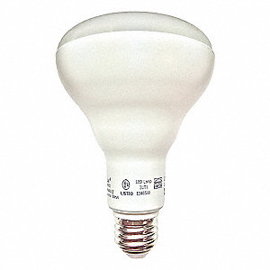 12.0 Watts LED Waterproof Lamp, BR30, Medium Screw (E26), 865 Lumens, 3000K Bulb Color Temp.