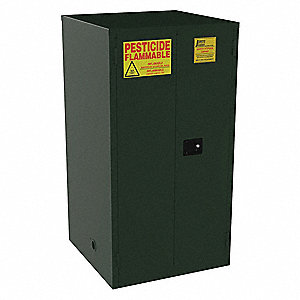 "60 gal. Pesticide Cabinet, 65"" x 34"" x 34"", Manual Door Type"