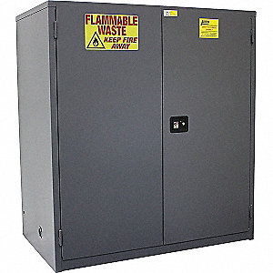 "60 gal. Hazardous Waste and Drum Storage Cabinet, 65"" x 34"" x 34"", Self-Closing Door Type"