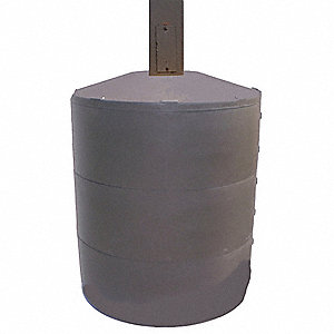 "31""H Light Pole Base Cover, Brown; For Post Shape: Square, For Post Size: 4"" dia."