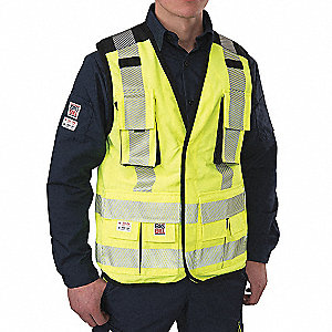 RIPSTOP HV SURVEYOR VEST YEL L