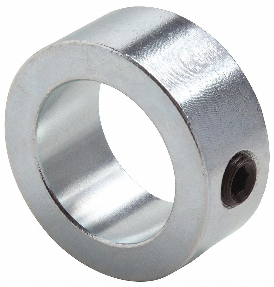Steel Shaft Collar, Set Screw Collar Style, Standard Dimension Type, 5/8 in Bore Dia.