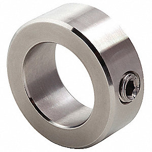 "316 Stainless Steel Shaft Collar, Set Screw Collar Style, Standard Dimension Type, 3/8"" Bore Dia."