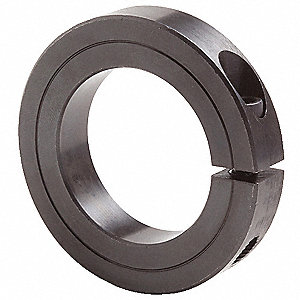 "Steel Shaft Collar, Clamp Collar Style, Standard Dimension Type, 15/16"" Bore Dia."