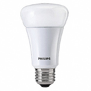 7 Watts LED Lamp, A19, Medium Screw (E26), 470 Lumens, 2700K Bulb Color Temp.