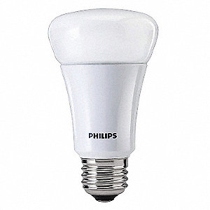 11.0 Watts LED Lamp, A19, Medium Screw (E26), 880 Lumens, 2700K Bulb Color Temp.