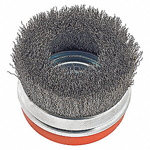 BRUSH CUP CRIMPED 5IN STEEL