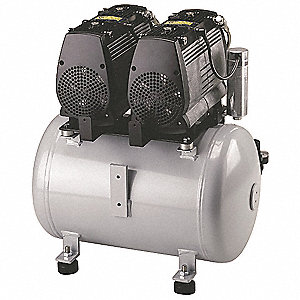 10.6 gal. 120VAC Oil-Less Rocking Piston Electric Air Compressor