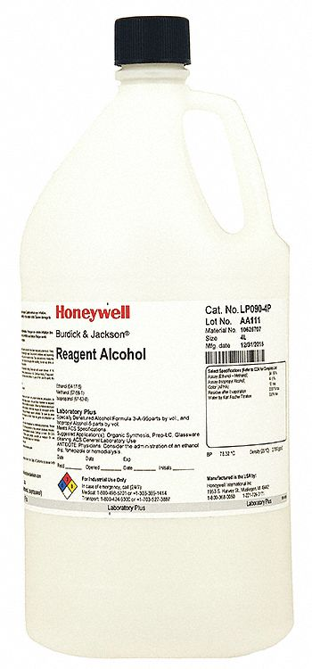 Reagent Alcohol, CH3CH2OH, 4L, PK4