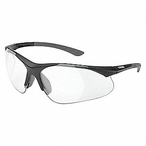 Clear Scratch-Resistant Safety Reading Glasses, +1.0 Diopter