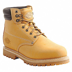 "6"" Height Men's Work Boots, Steel Toe Type, Wheat, Size 12EE"