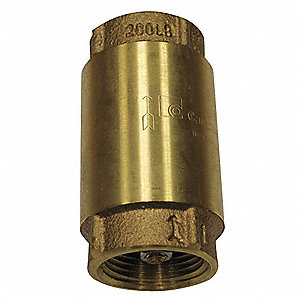 "2"" Spring Check Valve, Low Lead Brass, FNPT Connection Type"