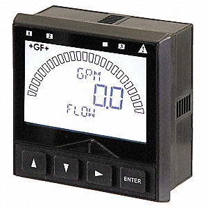 1/2 to 8 GF Insertion Fitting Electronic Flowmeter, Glass Filled Polypropylene, 0 to 99999 gpm