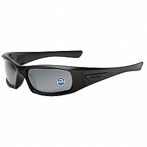 5B  Scratch-Resistant Polarized Safety Sunglasses, Gray Mirror Lens Color