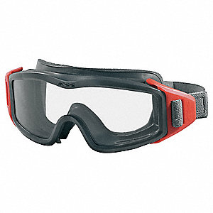 Anti-Fog, Scratch-Resistant Fire Goggle, Clear Lens Color