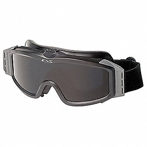 Anti-Fog, Scratch-Resistant Tactical Goggles, Clear, Smoke, Gray Lens Color