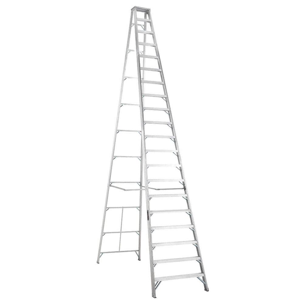 LOUISVILLE 20 ft. 300 lb. Load Capacity Aluminum Stepladder - 36Y382 ...