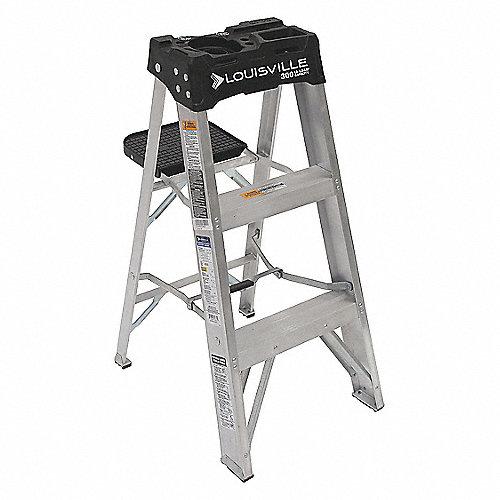 Louisville escalera tijera aluminio al 3 pies ia for Precios de escaleras de tijera de aluminio