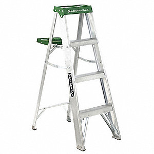 4 ft. 225 lb. Load Capacity Aluminum Stepladder