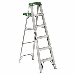6 ft. 225 lb. Load Capacity Aluminum Stepladder