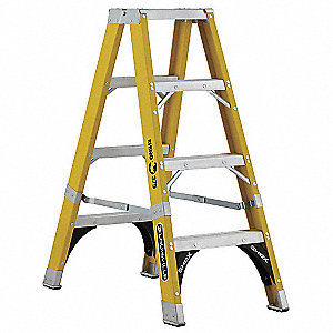 4 ft. 375 lb. Load Capacity Fiberglass Twin Stepladder