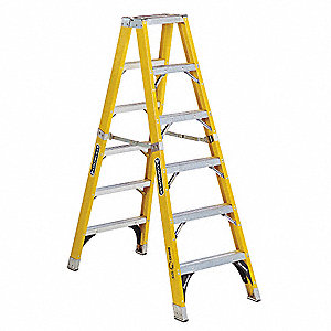 Twin Stepladder,Fbrgls,IAA,6ft,FM1100HD