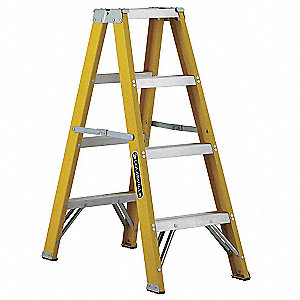 4 ft. 250 lb. Load Capacity Fiberglass Twin Stepladder