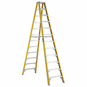 12 ft. 250 lb. Load Capacity Fiberglass Twin Stepladder