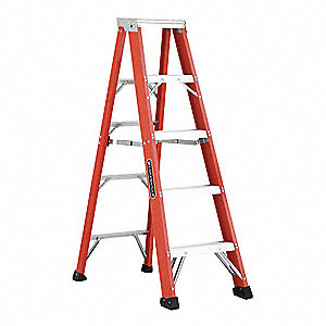 5 ft. 375 lb. Load Capacity Fiberglass Stepladder