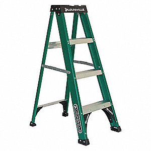 4 ft. 225 lb. Load Capacity Fiberglass Stepladder