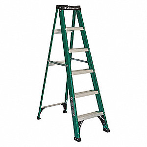 6 ft. 225 lb. Load Capacity Fiberglass Stepladder