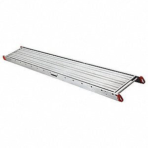 "Three-Person Scaffolding Stage, 24 ft. Length, 28"" Width, 750 lb. Load Capacity"