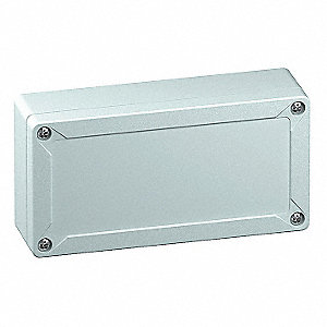 "6""H x 3""W x 2""D Non-Metallic Enclosure, Light Gray, Knockouts: No, Screws Closure Method"