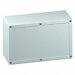 "10""H x 6""W x 5""D Non-Metallic Enclosure, Light Gray, Knockouts: No, Screws Closure Method"