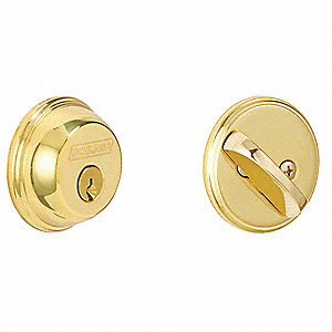 Deadbolt,HD,Polished Brass,5 Pins