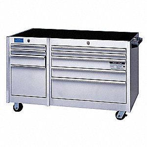 "Rolling Cabinet,45""Wx24""Dx33""H,White"
