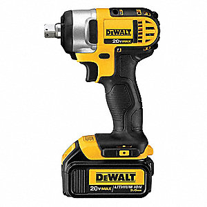 "1/2"" Cordless Impact Wrench Kit, 20.0 Voltage, 150 ft.-lb. Max. Torque, Battery Included"