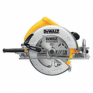 7-1/4 Circular Saw, 5200 No Load RPM, 15.0 Amps, Blade Side: Right