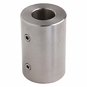 "1 Piece Set Screw 7/8"" Bore Dia. Stainless Steel Rigid Shaft Coupling"