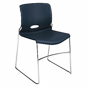 Chrome Steel Stacking Chair with Regatta Seat Color, 4PK