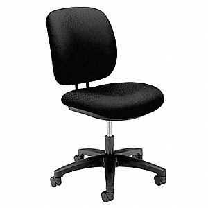Task Chair,Black,14-7/8 to 19-3/4 In