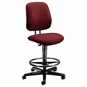 Task Chair,Burgundy,22-1/2 to 32-1/2 In