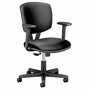 Task Chair,Black,18 to 22-1/4 In
