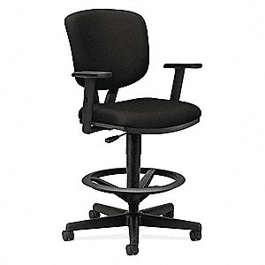 "Task Chair,Fabric,Black,23-32"" Seat Ht"
