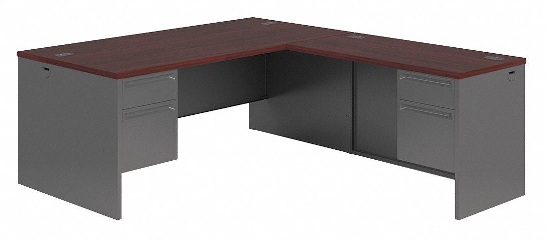 Hon 72 X 84 29 1 2 38000 Series L Shape Office Desk Charcoal 38c544 H38ll7284ns Grainger