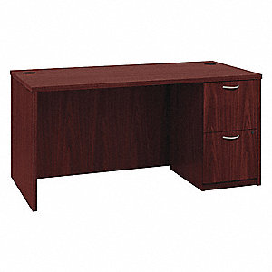 Office Desk,60 x 29 x 30 In,Mahogany